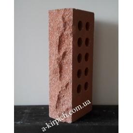 Облицовочный кирпич LAND BRICK скала пустотелый красный 250х100х65 мм