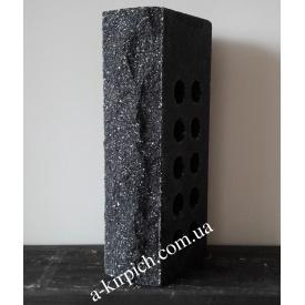 Облицовочный кирпич LAND BRICK скала пустотелый черный 250х100х65 мм
