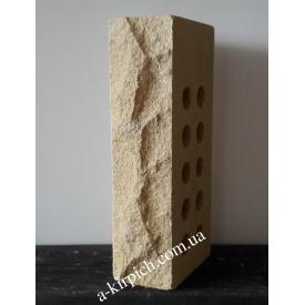 Облицовочный кирпич LAND BRICK скала пустотелый слоновая кость 250х100х65 мм