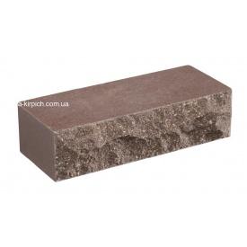 Облицовочный кирпич LAND BRICK скала коричневый полнотелый 250х100х65 мм