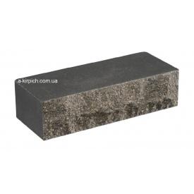 Облицовочный кирпич LAND BRICK скала черный полнотелый 250х100х65 мм