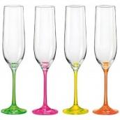Набор бокалов для шампанского Bohemia Neon 190 мл 4 пр 40729/D4892/190