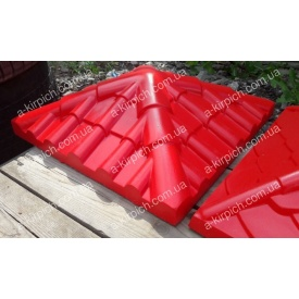 Крышка на забор LAND BRICK Черепица красная 450х450 мм