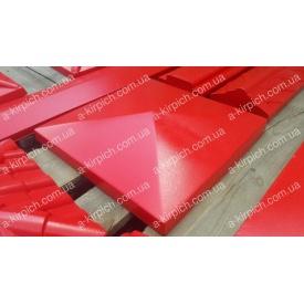 Крышка на забор LAND BRICK Европа красная 400х400 мм