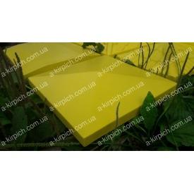 Крышка на забор LAND BRICK Европа желтая 400х400 мм