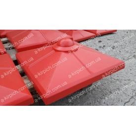Крышка на забор LAND BRICK Скандинавия красная 450х450 мм