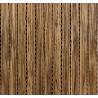 Акустическая перфорированная панель Decor Acoustic Зебрано 2400х576х16 мм