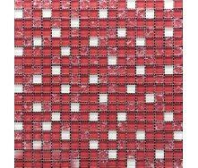 Мозаїка Grand Kerama мікс рожево-білий-рожево-колотий 300х300 мм (499)