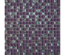 Мозаїка Grand Kerama мікс фіолетовий-платина рельєфна-платина 300х300 мм (914)