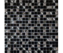 Мозаїка Grand Kerama мікс чорний-платина рельєфна-платина 300х300 мм (912)