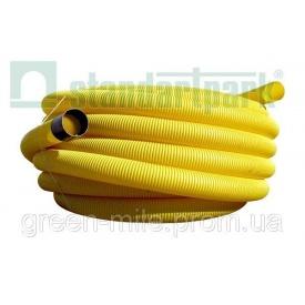 Дренажная гофрированная труба ТД-10.5000-ПП ПВХ 100 мм 50 м желтая (8400)