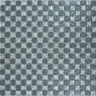 Мозаїка Grand Kerama шахматка рельєфна платина-рельєфний сірий 300х300 мм (647)
