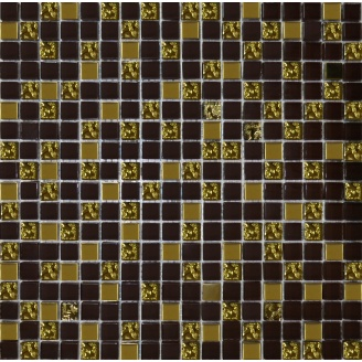 Мозаїка Grand Kerama мікс шоколад-золото рельєфне-золото 300х300 мм (915)