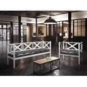 Набор мебели Грин Трик ЛОФТ кресло 500х800 мм + диван трехместный 500х1800 мм