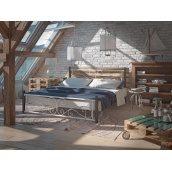 Ліжко Нарцис 1200х2000 мм на дерев'яних ногах