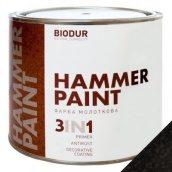 Краска молотковая 3 в 1 Biodur 0,7 л черный