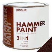 Краска молотковая 3 в 1 Biodur 0,7 л коричневый