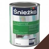 Эмаль масляно-фталевая Sniezka Supermal 0,8 л коричневый мат