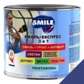 Эмаль Экспресс антикоррозионная 3 в 1 Smile 2,2 кг для крыш ультрамарин RAL 5002