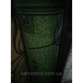 Килимова доріжка 1 м зелений в сіру гілку