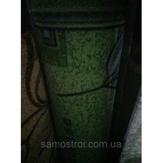 Ковровая дорожка 1 м зеленый в серую ветку