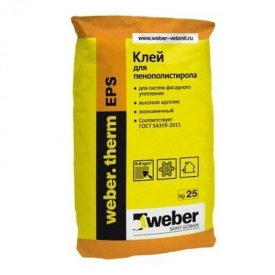 Клей для теплоизоляции Weber.therm EPS 25 кг