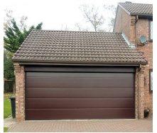 Секционные гаражные ворота Alutech Trend L-гофр 2500х2200 мм