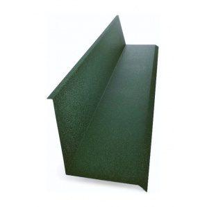 Планка примыкания к стене Тайл 10х140х130х20 мм зеленая
