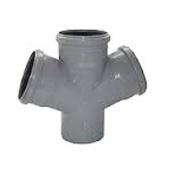 Хрестовина каналізаційна 110/110/110 мм 45 градусів