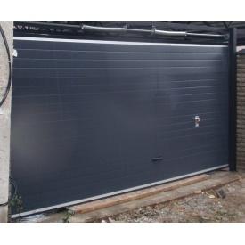 Гаражные секционные ворота KRUZIK Base 3000х2200 мм антрацит