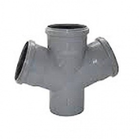 Крестовина канализационная 110/110/110 мм 45 градусов