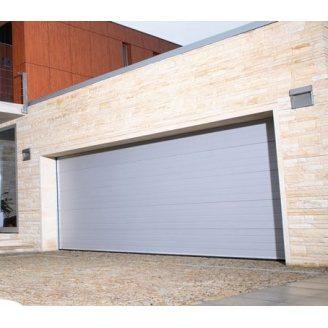 Гаражні секційні ворота KRUZIK Base 2750х2500 мм сріблястий