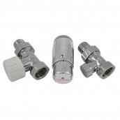 Комплект термостатический прямой хром Schlosser GZ1/2 x GW1/2 (602200061)