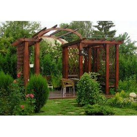 Деревянная арка садовая под заказ