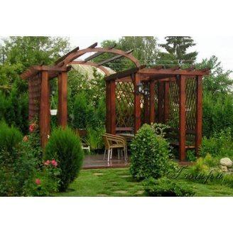 Дерев'яна арка садова під замовлення