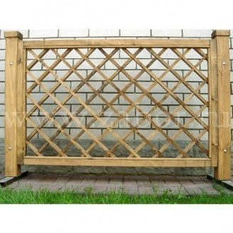 Дерев'яний паркан з решетування секцій ДО-1