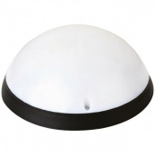 Світильник вологозахищений настінний Horoz Electric Aqua Опал повн.місяць LED 12Вт 6400К чорний ІР54 d-242,5 мм (400-325-115)
