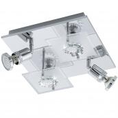 Светильник светодиодный потолочный EGLO Балерна 12W LED хром/хрусталь (94529)