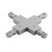 Коннектор для рейок трекових світильників Ledmax 1-PHS ADAPTER хрестової білий