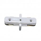 Коннектор для рейок трекових світильників Ledmax I-1-PHS ADAPTER прямий білий