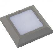 Світильник садово-парковий Horoz Electric Mersin квадрат SMD Led 5W сірий 4200К 124x124мм ІР65 270Lm (076-011-0005)