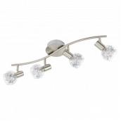 Світильник стельовий люстра EGLO Базенто 5 W LED нікель-мат/прозорий (93829)