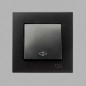 Переключатель Gunsan Eqona промежуточный 1-клавишный Черный (1403400100135)