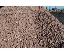 Брусчатка гранитная колотая Лезниковского месторождения 5х5х5 см