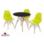Стол обеденный Vetro мебель ТМ-35 80х73 см черный