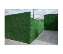 Зеленый забор Dark Green из искусственной травы ПВХ 1х10 м