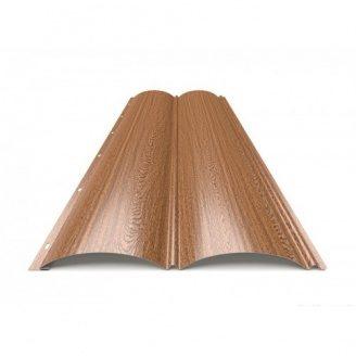 Металлический сайдинг Блок-Хаус тип 1 Золотой Дуб
