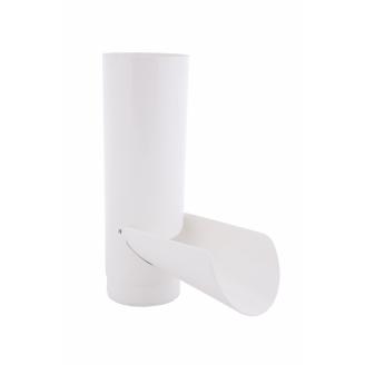 Отвод для сбора воды 90 мм белое