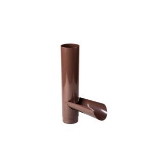 Отвод для сбора воды 130 мм коричневый