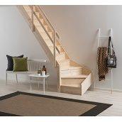 Деревянная лестница DOLLE Normandie забежные с подступеньками